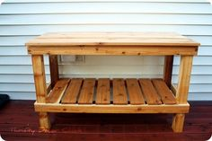 DIY Potting Bench from Thrifty Decor Chick http://thriftydecorchick.blogspot.com/2011/08/diy-potting-bench-with-dad.html
