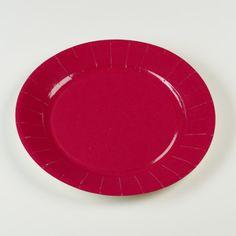 Assiettes en carton rigide de couleur rouge fuchsia