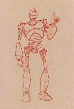 Timothy Anderson Art: Iron Giant Sketch and Painting WIP