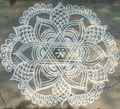 Indian Rangoli Designs, Rangoli Designs Latest, Rangoli Ideas, Rangoli Designs With Dots, Kolam Rangoli, Flower Rangoli, Beautiful Rangoli Designs, Kolam Designs, Simple Rangoli