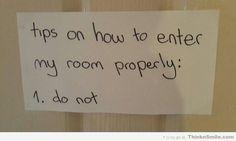 Teenager Bedroom Door