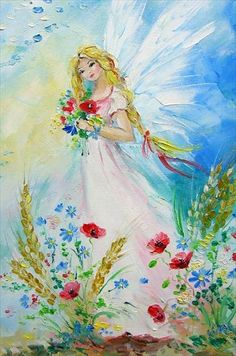 Click to bring to front Fairy Pictures, Angel Pictures, Love Painting, Painting & Drawing, Unicorn And Fairies, Angel Artwork, Angel Drawing, Art Manga, Fairytale Art