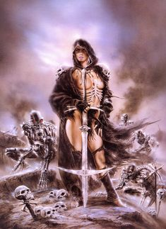 Art by Luis Royo Fantasy Art Village Social Network for Fantasy, Pinup, and Erotic Art Lovers! Dark Fantasy Art, Fantasy Artwork, Fantasy Women, Dark Art, Art Village, Statues, Fantasy Gifts, Luis Royo, Spanish Artists