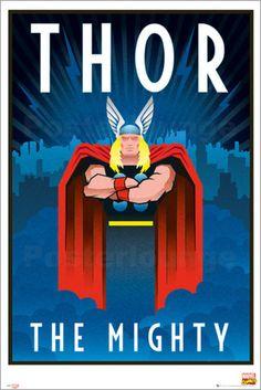 Marvel - Retro Thor - Comicposter