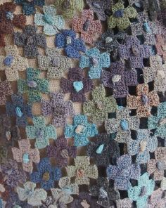 "Sophie Digard crochet ""Hydrangea"" linen scarf"