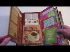Junk Journal I use for everyday journaling using old mail newspaper manila golder
