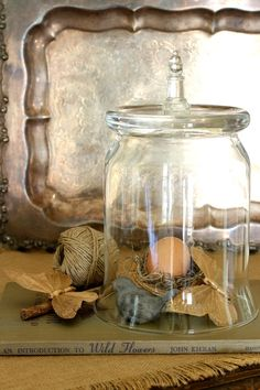 Make a cloche from a plain glass vase  Get the SUPER easy tutorial & ideas for toppers!