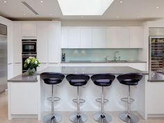 Beautiful kitchen set within an Open Plan space in a London home.