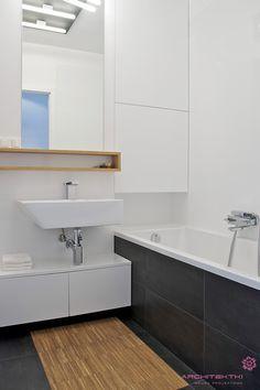 Apartament in Piaseczno near Warsaw on Behance Creative Industries, Warsaw, Bathtub, Interior Design, Bathroom, Projects, Behance, Stuff To Buy, Platform