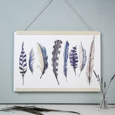 I've just found Wild Blue Feathers Watercolour Art Print. Plump for plumage and adorn your walls with this elegant wild feather art print in stunning blue watercolour hues.. £15.00