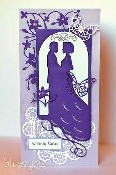blueagata: Purple wedding card