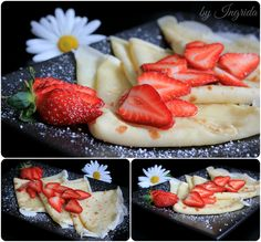 ~ Crepes with Strawberries ~♥~ Yummy Breakfast Treat ~