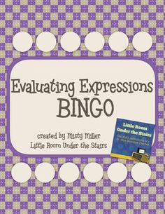 Math: Evaluating Expressions BINGO $