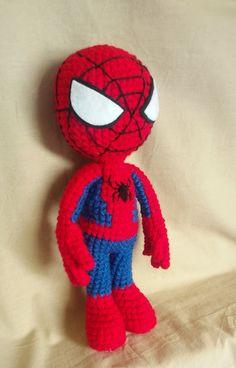Amigurumi Spider-man plush human doll crochet