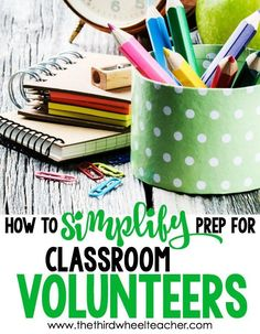 Easy ways to get more time by utilizing parent volunteers more effectively. Stop wasting time prepping for them...these easy tips make it simple to get parent volunteers into your classroom to give you a hand!