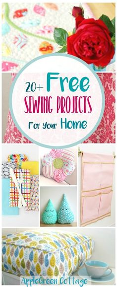 20+ adorable, useful and free DIY sewing projects for every room in your home. Nearly all include a free sewing pattern and nearly all are beginner-friendly tutorials. They make super handy DIY gifts for friends, for housewarming parties, and for your own home decoration.​ Check them out!