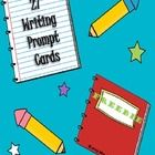 FREEBIE * This download includes 27 writing prompt cards. Print on colored card stock, cut out and laminate to use all year long!   Don't forget to *FOLLOW ME* for weekly updates on new additions to Mrs. D's Corner!  Thanks for Looking & Happy Teaching!