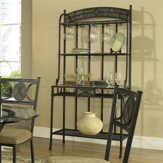 The Camelot Bakers Rack By Hillsdale Furniture Features Four