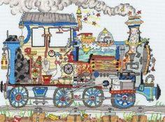 Bothy Threads - Cut Thru' Steam Train #crossstitch #crossstitching #crossstitchkits #bothythreadscrossstitchkits
