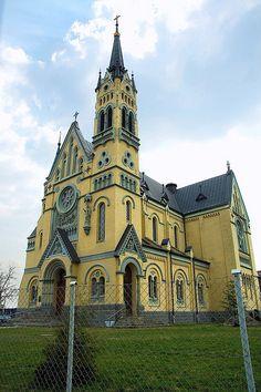 Catholic cathedral in Fastiv, Kyiv region, Ukraine.