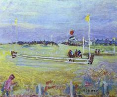 artist-bonnard:  Race at Bologne via Pierre BonnardMedium: oil...