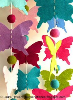 Bugs and Fishes by Lupin: How to: Butterfly Mobile