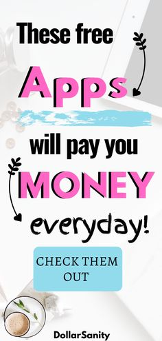 The list of best money-making apps and websites that can make you money. Check them out and start making money now. Earn Free Money, Quick Money, Earn Money From Home, Earn Money Online, Extra Money, Online Income, Money Fast, Online Jobs, Best Money Making Apps