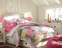Girls Bedroom Ideas - Bright Blooms Bedroom Ideas for Girls - Inspiring Color Combination