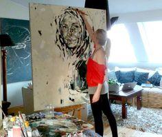 Artist and Studio, 6 contemporary women artists at work: Anna Bocek,...