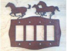 Horse Quad Rocker Lightswitch Cover
