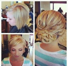 @Misty Schroeder Hargis I really like this one, with just two small braids on the side pulled back...