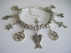 e117f2119a3 SUPERNATURAL Mary Winchester Protection Charm Bracelet Demon Hunters Dean  Sam Cas Family Business Sa Supernatural Mary