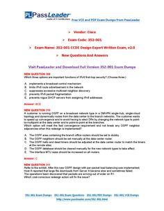 New 352-001 Exam Dumps with PDF and VCE Download