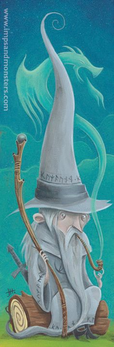 """Tribute to Gandalf The Grey from """"The Hobbit""""   Justin Hillgrove"""