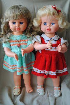 Boneca Bate-Palminha. A minha era a de vestidinho verde e laranja!