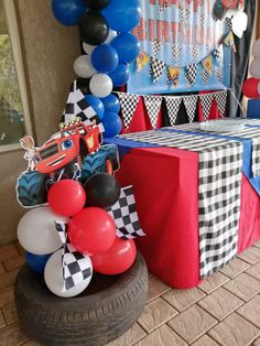 It's Party Time South Coast Monster Truck Party, Monster Trucks, Balloon Centerpieces, Girl Day, My Baby Girl, Party Time, Balloons, Birthday Cake, Parties