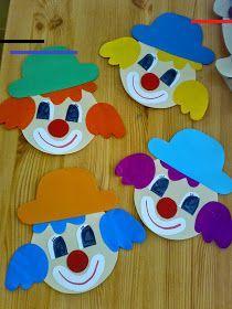 #themasinterklaas Kids Crafts, Clown Crafts, Circus Crafts, Carnival Crafts, Arts And Crafts For Teens, Preschool Activities, Art For Kids, Diy And Crafts, Art Children