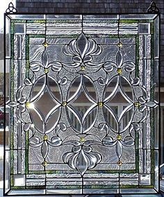 stained glass beveled window