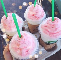 Birthday cake fraps. I'm kind of obsessed with how pretty they are.