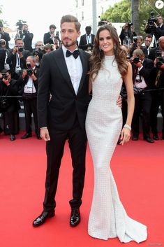"Kevin Trapp and his girlfriend Izabel Goulart at the ""The Killing Of A Sacred Deer"" screening during the 70th annual Cannes Film Festival at Palais des Festivals. #cannes #festivaldecannes #cannes2017 #cannesfilmfestival #redcarpet #celebrity #fabfashionfix #izabelgoulart #kevintrapp"