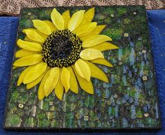 WIP Sunflower by mosaicdownunder/ Inge, via Flickr