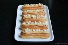 Karamel Eclairs - Keukenatelier Bread Cake, Pie Cake, Thermomix Bread, Mini Pies, Eclairs, Hot Dog Buns, Sweet Recipes, Bakery, Snacks