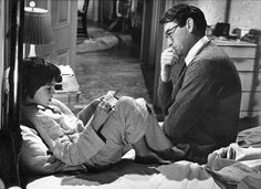 Gregory Peck and Mary Badham at To Kill a Mockingbird