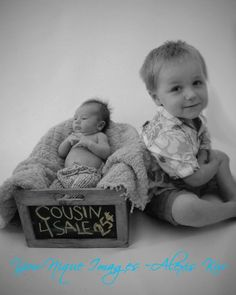 Toddler/Newborn Photography  Josie may be willing to do this picture ;)