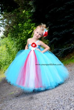 Tutu Dress in Tiffany Blue Turquoise Red and by YourSparkleBox, $109.95