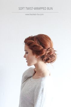 The Freckled Fox: The Soft Twist-wrapped Bun Hairstyle