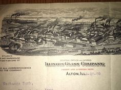 Incredible Graphic Letterhead Illinois Glass Works Manufacturer Alton 1909
