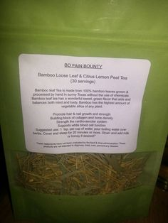 Bamboo  Herbal Tea has 70 % Silica for Hair,Skin,Nails,  Greenery Herbs For Health - Free Shipping by SmartyPlantsTeas on Etsy