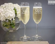 Items similar to Monogram Wedding Toasting Flutes (Set of TWO) Custom Engraved Vina Champagne Glasses, Engagement Gift, Monogrammed Flute, Personalized Glass on Etsy What Are Colours, Toasting Flutes, Wedding Toasts, Champagne Glasses, Wedding Glasses, Personalized Wedding Gifts, Bridal Shower Gifts, Engagement Gifts, Wedding Engagement