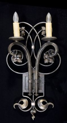 Hand-forged classic wall sconce
